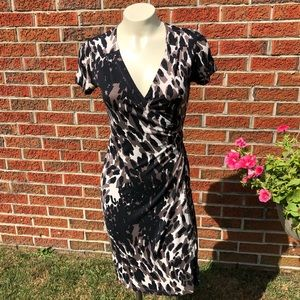 Banana Republic Rome Wrap Dress Silk XS Brown